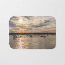 Hyannis sunset Bath Mat