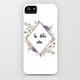 Lettering and Watercolor #4 iPhone Case