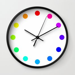 clock dots - color option white Wall Clock