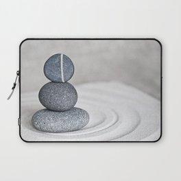 Zen cairn pebble stone balance grey Laptop Sleeve