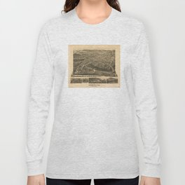 Vintage Pictorial Map of Asheville NC (1891) Long Sleeve T-shirt