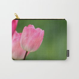 Pink tulips blossom close up- the spring is here Carry-All Pouch