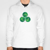 clover Hoodies featuring White Clover by Christopher Dina
