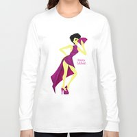 asian Long Sleeve T-shirts featuring Asian Lounge by Alex Moreno