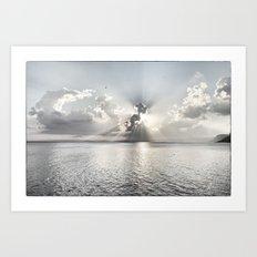 When the sun sets... Art Print