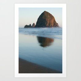 haystack rock - oregon Art Print