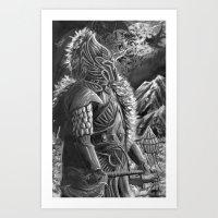 elf Art Prints featuring elf by Sean Douglas