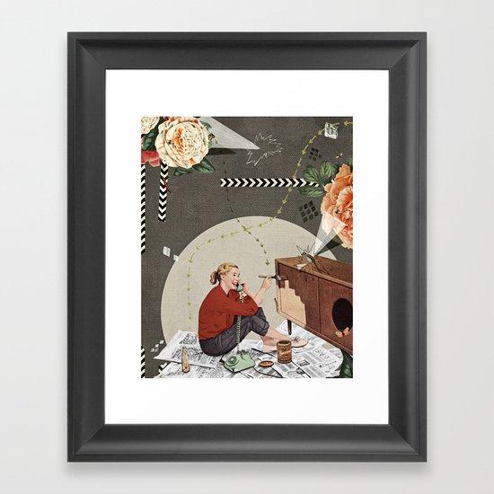 rose red Framed Art Print