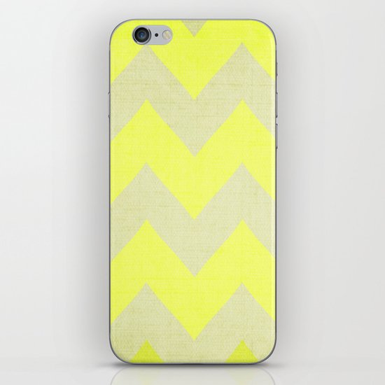 Jonquils & Daffodils - Yellow Chevron iPhone & iPod Skin