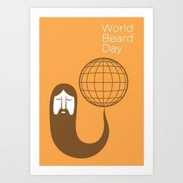 The Beards ~ World beard day poster Art Print