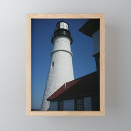 Maine series - lighthouse Framed Mini Art Print