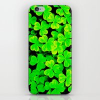 clover iPhone & iPod Skins featuring CLOVER by Ylenia Pizzetti