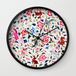 Summer Flora and Fauna Wall Clock