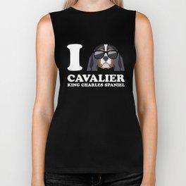 I Love Cavalier King Charles Spaniel modern v2 Biker Tank