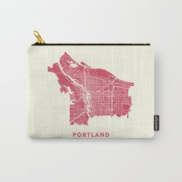 Portland City Map Carry-All Pouch