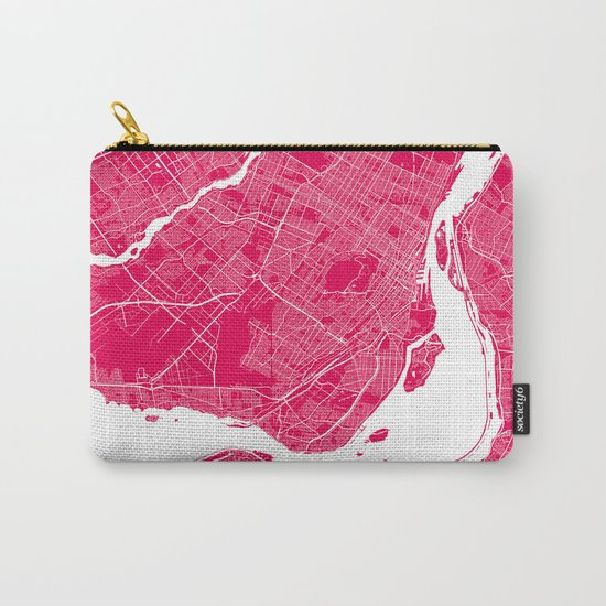 Montreal map raspberry Carry-All Pouch