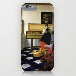 Johannes Vermeer - Lady at the Virginal with a Gentleman, 'The Music Lesson' iPhone Case