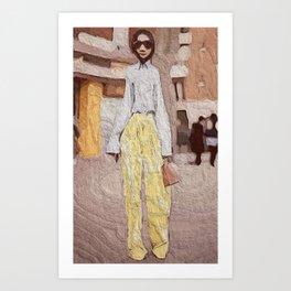 Mellow Yellow Pants Art Print