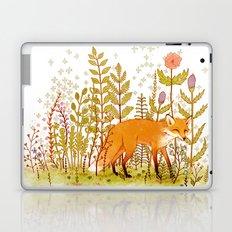 Fox and Flowers Laptop & iPad Skin