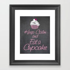 Keep Calm and Eat a Cupcake Framed Art Print