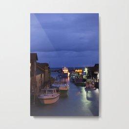 FISHTOWN IN THE RAIN Metal Print