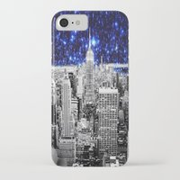 new york city iPhone & iPod Cases featuring new york city. Blue Stars by 2sweet4words Designs