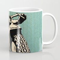 motorcycle Mugs featuring Motorcycle Race by Fernando Vieira