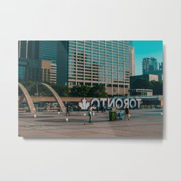 Nathan Phillips square late evening Rollin on Metal Print