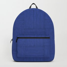 Blue Faux Bois Wood Pattern Backpack