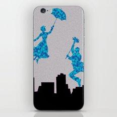 Mary Poppins glittsy Blue iPhone & iPod Skin