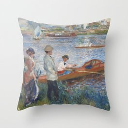 Auguste Renoir Oarsmen at Chatou 1879 Painting Throw Pillow
