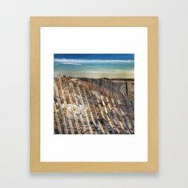 Winter Scape - Jones Beach Framed Art Print