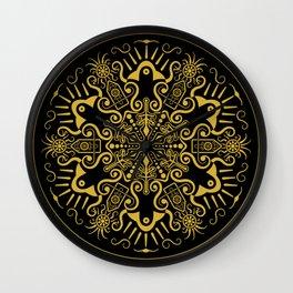 Alien Illuminati (Gold) Wall Clock