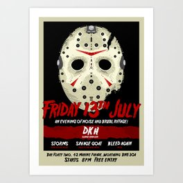FortyTwo - Poster (Friday 13th July) Art Print
