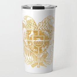 ARMENIAN COAT OF ARMS - Gold Travel Mug