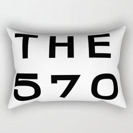 570 Pennsylvania Area Code Typography Rectangular Pillow