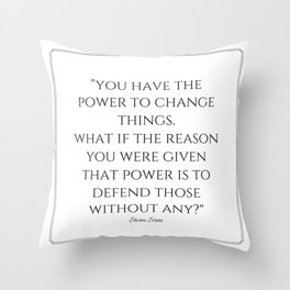 """""""The Reason for Power"""" quote (STORM SIREN) Throw Pillow"""