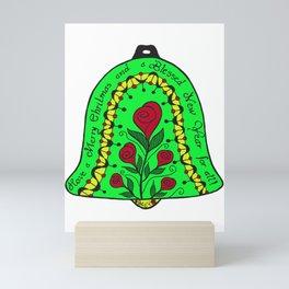 X-mas bell in colour Mini Art Print