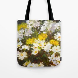 Daisies, Hydrangea and Yarrow Flowers Tote Bag