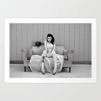 charmaine olivia Art Prints featuring Olivia by Cherise Josephine