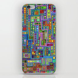 Tiled City iPhone Skin
