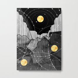 Astronomy mountains Metal Print