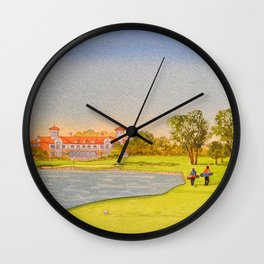TPC Sawgrass Golf Course 18th Hole And Clubhouse Wall Clock