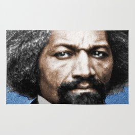 Frederick Douglass Painting In Color Rug
