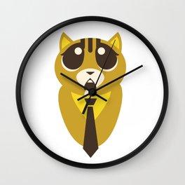 funny hungry cat  Wall Clock