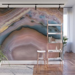 Pink and Blue agate 0425 Wall Mural