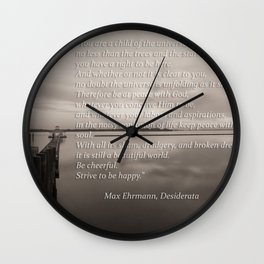 Dreaming in Grays Wall Clock