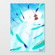 Ice Fisher's Nap Canvas Print