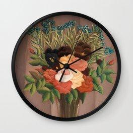 Bouquet of Flowers - Henri Rousseau Wall Clock