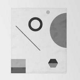 Fête No. 1 Geometric Monochrome Throw Blanket